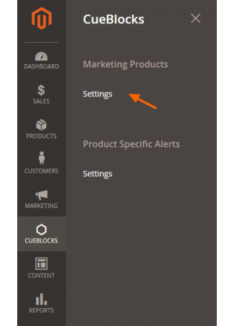 Manage Products for Marketing tool