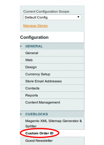 Custom Order ID Settings in Magento