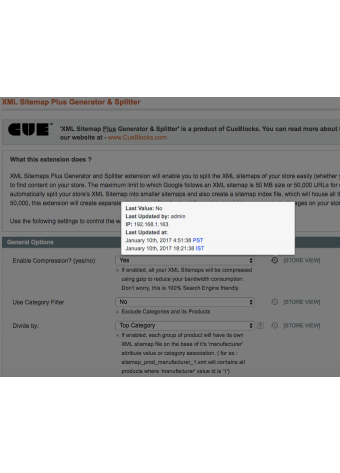 Admin Configuration logs Settings in Magento
