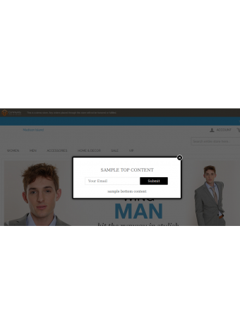Newsletter Responsive Popup Example