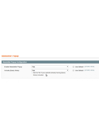Newsletter Responsive Popup settings in Magento